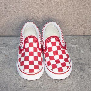 BRAND NEW RED AND WHITE CHECKERED VANS